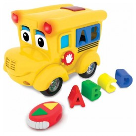 Remote Control Shape Sorter - Letterland School Bus Electronic Learning Ages 18+ Months