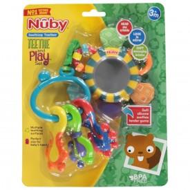 Nuby Soothing Teether Teethe And Play Set Teething Baby Infant Developmental