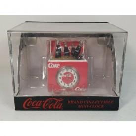 1999 Coca Cola Mini Ice Chest Collectible Desk Clock