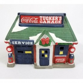 Coca Cola American Classics Collection Tucker's Garage Service Station Lighted House 1995