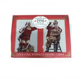 1994 Coca-Cola 2 Deck Nostalgia Playing Cards & Collectible Tin
