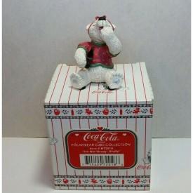 """Coca-Cola Brand Polar Bear Cubs """"I'm Not Sleepy, Really"""" H72018 Figurine"""