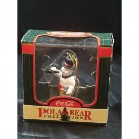 Coca-Cola Polar Bear Collection Celebrating 2000 w/ Coke Bottle Ornament