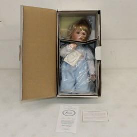 "Vintage 1994 Hamilton Heritage Doll ""Jessie"" Porcelain Girl Doll by Connie Walser Derek 13"""