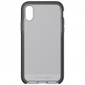 Tech21 - Evo Check Drop Protection Case ONLY for Apple iPhone XR - Smokey/Black