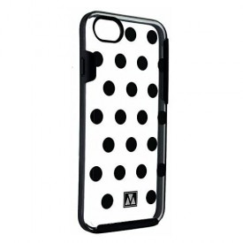 M-Edge Glimpse Series Protective Case Cover for iPhone 8 7 - Blacks Dots