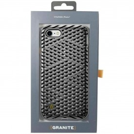 Granite Kaiser Case for iPhone 7 Gunmetal Cage Pattern