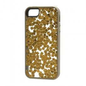 M-Edge - Stripped Case for Apple iPhone 5s/5, Gold Flakes, I5S-SR-P-GF