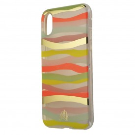Oh Joy Wave Snap On Protective Case Cover for iPhone X 10 - Multi Color