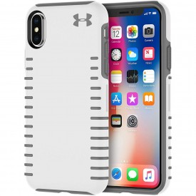 Under Armour UAIPH-011-WGR-V UA Protect Grip Case for iPhone Xs & iPhone X - White/Graphite