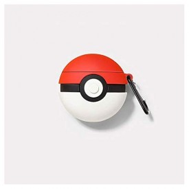 AirPods Case Soft Silicone Shockproof Cover for Apple Airpods 2 1,Poke Ball Pokémon Pikachu 3D Cartoon Unique Design Skin Kits Cases with Carabiner Holder