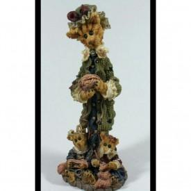 Boyds Bears Resin Figurine Purrscilla G. Pussenboots...Mittens Knitters Cat Kittens #2865