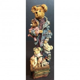 Boyds Bears Folkstone Resin Figurine Ms. Mcfrazzle...Daycare Extraordinaire #2883