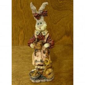 Boyds Bears Folkstone Resin Figurine Wendy & Pip...Tisket A Tasket Basket Maker Retired 28401