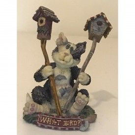 Boyds Bears Purrstone Resin Cat Figurine What Bird? Chester Birdbreath 371006