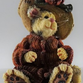Boyds Bears Purrstone Resin Cat Figurine Mrs. Partridge…Cmon Get Happy 371012