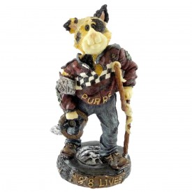 Boyds Bears Purrstone Resin Cat Race Car Driver Figurine Mario Fenderbender…1 Down, 8 to Go Retired 371009