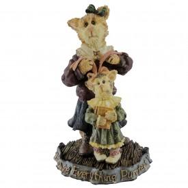 Boyds Bears Purrstone Resin Cat Figurine MOMMA PURRSLEY & CLAUDIA 371010 Cat Mom