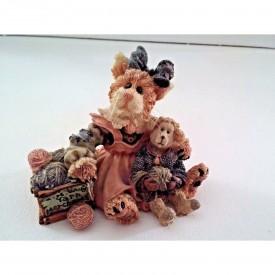 Boyds Bears Purrstone Resin Cat Figurine Clawdette Fuzzface & Wuly...Yarn Merchants