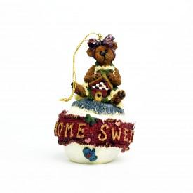 Boyds Bears Bearstone Resin Ornament Bailey Home Sweet Home 25708