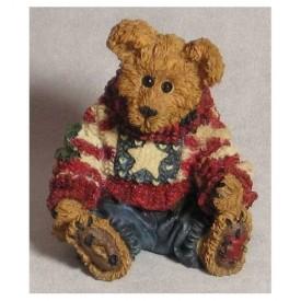 Boyds Bears Bearstone Resin Figurine Eddie ... Proud To Be A Bearmerican  Style #228312