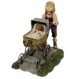 Yesterdays Child Dollstone Boyds Bears Resin CASEY W/ BAXTER AFTERNOON 3557 Figurine