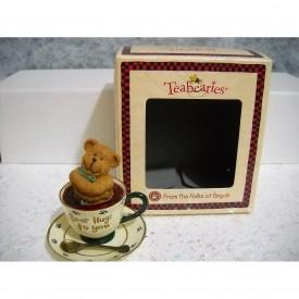 """Boyds Teabearies Figurine - Huggles - """"Bear Hugs to You"""""""