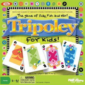 Ideal Tripoley for Kids- Snap, Fish and War Card Game