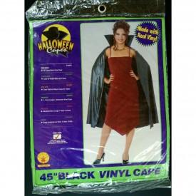 "Rubie's Vintage Halloween Vampire/Dracula 45"" Vinyl Cape With Collar"