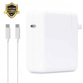 USB-C Power Adapter Charger Replacement, 61W PD Fast Charging for MacBook Pro 13-inch with Thunderbolt 3 (USB-C), A1718 A1706 A1708 A1989, Dell, Lenovo, Nintendo Switches and Any USB-C-Enabled Device