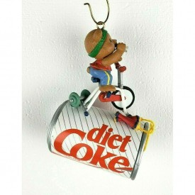 Diet Coke Christmas Trimmin Coca-Cola Working Out Bear Ornament