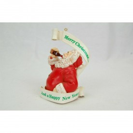 Coca Cola Trim-a-Tree Collection Santa Merry Christmas and a Happy New Year #H2801