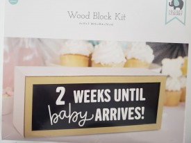 Nicole's Nursery Wood Block Nursery Kit - Countdown Babies Arrival In Style