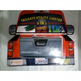 Tailgate 3-In-1 Utility Lighter, Cork Screw & Bottle Cap Opener(Grey)