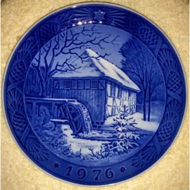 Royal Copenhagen Christmas Plate - 1976 Vibaek Water Mill
