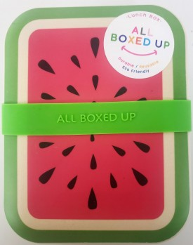 All Boxed Up Eco Friendly Lunch Box - Green/Red Watermelon