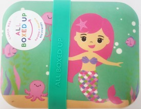 All Boxed Up Eco Friendly Lunch Box - Pink/Seafoam Green Mermaid