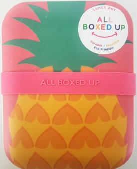 All Boxed Up Eco Friendly Lunch Box - Yellow/Blue Pineapple