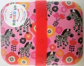 All Boxed Up Eco Friendly Lunch Box - Pink/Gold Zebras