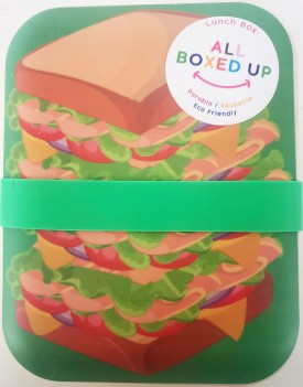 All Boxed Up Eco Friendly Lunch Box - Green/Yellow Sandwich