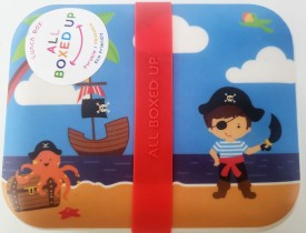 All Boxed Up Eco Friendly Lunch Box - Green/Blue Pirate