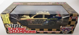 Nascar 50th Anniversary Johnny Benson #26 Pop Secret Racing Champions Gold Diecast Stock Car Bank 1:24 Scale