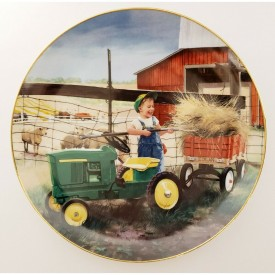 Danbury Mint Pitching In Plate Donald Zolan Collection Little Farmhands