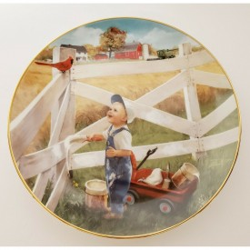 Danbury Mint Plate Morning Song Donald Zolan Collection Little Farmhands
