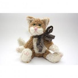 "Boyd's Catherine Q. Fuzzberg Bean Plush 8"" Kitty Cat 5303-08 Gingham Bow"