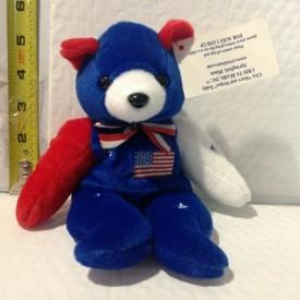 "USA Stars and Stripes Collection Cris Ta Bear 8"" Beanie Plush"