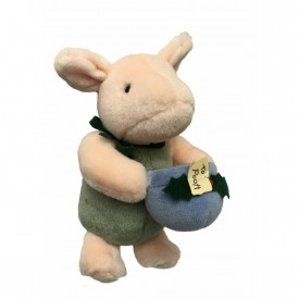 Gund Classic Pooh - Christmas Plush - Piglet with Honey Pot for Winnie the Pooh