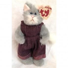 "Ty Attic Treasures Whiskers 8"" Plush Cat (Dark Purple Jumper)"