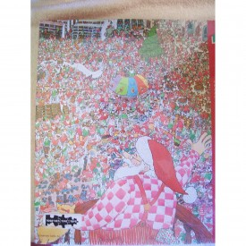 """Santa Christmas Puzzle Springbok 500 Pieces Family Puzzle """"Everything's Up To Date At The North Pole!"""""""