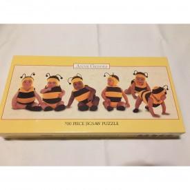 Anne Geddes Baby Babies Bumblebee 700 Piece 34x12 Made in USA Ceaco 1997 No. 2901-2
